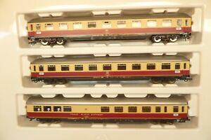 Roco H0 44120 TEE-Schnellzugwagen-Set mit 3 Wagen, DB, KK   R90