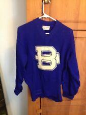 Vintage 1950's Wool Letterman High School Cheerleader Sweater Bleep-Coombs