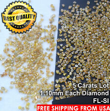 100% NATURAL Loose Rough Diamonds Fancy Orange FL-SI 1.20mm uncut real 5crts Lot