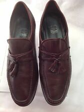 VINTAGE THE FLORSHEIM  SHOE- Men's Burgandy Leather Sz. 10 D Made IN Italy