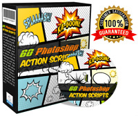 60 Adobe Photoshop Action Scripts New Ps Graphic Image Editing with PLR