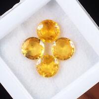 4 Pcs Top Quality Natural Yellow Sapphire Sri Lanka Sparkling Round Cut Gems