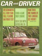 CAR & DRIVER 1964 APR - VW 1500, LANCIA, FORD 4-CAM