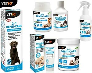 VetIQ Denti-Care Liquid, Paste, Chews, Granules, Gum-Shield Spray & Teething Gel