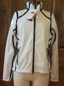 Sugoi Women's Firewall 220 Thermal Cycling NEW Jacket White Black Full Zip sz M