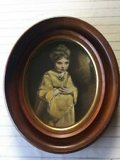 """Antique Print """"The Strawberry Girl"""" by Sir Joshua Reynolds Wray Collection"""