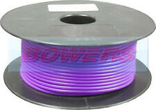 50M METRE ROLL/REEL PURPLE SINGLE CORE CABLE/WIRE 8.75AMP 14 STRAND 1mm 1.00mm²