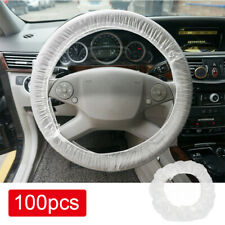100Pcs Plastic Disposable Steering Wheel Cover Protector Universal for Car Truck