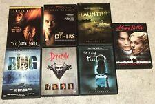 Lot of 7 Horror Dvd's ~ Very Good ~ Ring Sixth Sense Sleepy Hollow Dracula Other