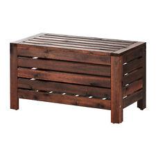 Storage bench, outdoor ÄPPLARÖ Brown stained,80x41 cm