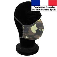 Masque protection Camouflage taille homme réutilisable barrière AFNOR