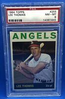 1964 TOPPS BASEBALL #255 LEE THOMAS PSA 8 NM-MT LOS ANGELES ANGELS