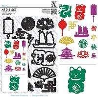 DOCRAFTS XCUT A5 DIE CUTTING SET CHINESE NEW YEAR - NEW UNIVERSAL FIT