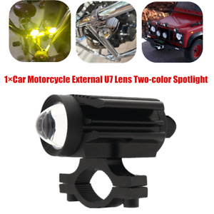 12V LED Car Motorcycle off-road External U7 Lens Two-color Spotlight Hi/Lo Beam
