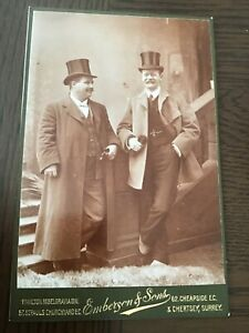 CC LONDON CITY GENTS Top Hats BIG SMILES Fashion Detail c1880 CABINET PHOTO 9/10