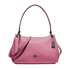 NWT COACH Small Mia Shoulder Bag Crossbody Classic Pink Rose Black Metal F73196