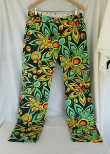 Loudmouth 37 X 33 VIBRANT Golf Pants COLORFUL Mens Floral TRIPPY Psychedelic