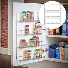 4 Tier Spice Rack Organizer Wall Mount Door Storage Kitchen Shelf Space Saver BT