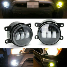 Angel Eye White Yellow Dual Color 20W LED Fog Light Kit For Honda Nissan Subaru