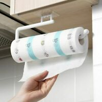 Paper Roll Holder Towel Hanger Rack Cabinet Rag Hanging Holder Shelf Organizer