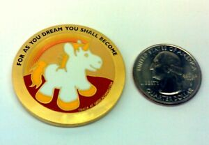 ☆ Lil Dreamer Geocoin SG Autumn Sunset Unicorn Unactivated LE Only 50 minted