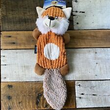 Squeaky Plush Dog Toy Fox 🦊 iPaws Skinny Pelt,Soft Tail &~NWT~