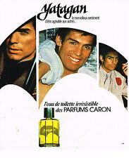 PUBLICITE ADVERTISING 015  1977  YATAGAN  eau de toilette homme de CARON