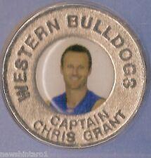 WESTERN BULLDOGS 2004  AFL CAPTAINS MEDALLION - CHRIS GRANT