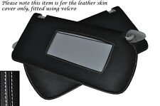 WHITE STITCH FITS HONDA ACCORD MK7 2003-2007 2X SUN VISORS LEATHER COVERS ONLY