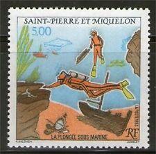 SPM  574 NEUF ** SANS CHARNIERE TTB  - LA PLONGEE SOUS-MARINE