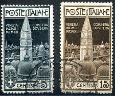 Regno - 1912 - Campanile di San Marco - usati - Sassone n.97/98