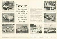 1959 Rootes PRINT AD Hillman Minx Husky Rapier Gazelle Snipe & Station Wagon