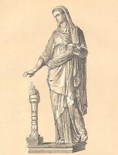 ANCIENT ROME COSTUME DRESS ~ 3 Antique Color Art Prints