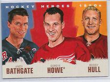 2011 2011-12 UPPER DECK HOCKEY HEROES ART PAINTING BATHGATE HOWE HULL HH-13