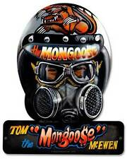 Drag Race Helment Mongoose Tom McEwen Metal Sign Man Cave Garage Shop TMC009