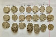 Lot of 41: 1919 to 1938-D 5c Indian Head Buffalo Nickels P, D & S