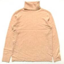 EQUIPMENT Oscar Turtleneck Sweater 100% Cashmere Cowl Neck Pink Blush Nude