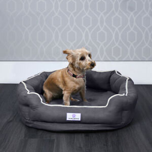 Pawamore Memory Foam Pet Orthopaedic Comfort Nest Sofa Cat Dog Bed - Small Grey