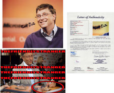 "BILL GATES signed Autographed ""MICROSOFT"" 8X10 PHOTO - EXACT PROOF - JSA LOA COA"