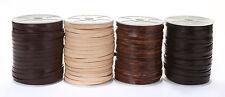 Lederband (ab 1,2€/m) Flach 5 x 1,5 mm. Lederriemen. Länge/Farbe: wählbar