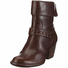 Clarks Ladies Melissa Holly Brown Leather Ankle Zip Up Boots Uk Size 5,5.5 D