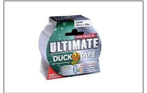 Duck Ultimate Cloth Tape, Clear - 50 mm x 20 m