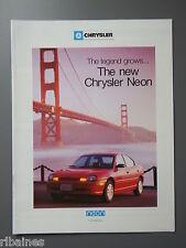 R&L Sales Brochure: Chrysler Neon UK
