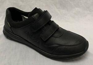 BNIB Clarks Bootleg Boys Hula Yo GTX Black Leather Gore-Tex School Shoes