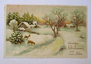 """""""Neujahr, Winterlandschaft, Rehe"""" 1936 ♥"""