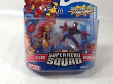 Marvel Super Hero Squad Tigra and SpiderMan new sealed bid now