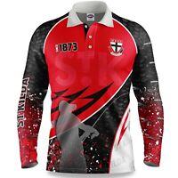 AFL 2020 Long Sleeve Fishing Polo Tee Shirt - St Kilda Saints - Adult Youth