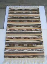 "Handwoven Rag Rug 28"" x 49"" Designed and Woven by Nancy Hemlin New Hamshire NEW!"