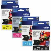 Genuine Brother Set of LC71 Ink 4-Pack - Black/Cyan/Magenta/Yellow/ Color Combo