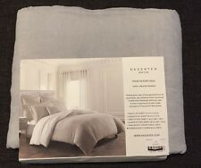 Kassatex 100% Linen Queen Duvet Cover (Grey/White)